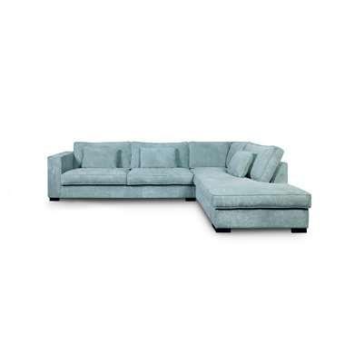 Sofa Stuttgart hoekbank stuttgart groot rechts ribcord ijsblauw