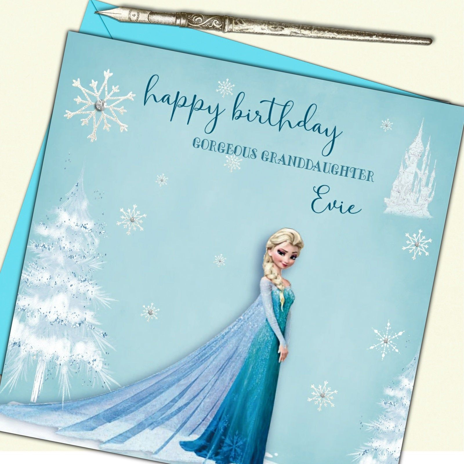 Personalised Frozen Birthday Card Elsa Personalised Christmas Cards Frozen Birthday Cards Frozen Cards