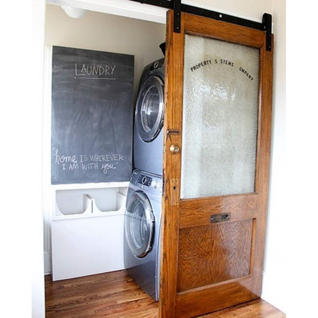 Decided I Want This For Our Small Laundry Room No Swinging Door Would Be Fabulous And The Look Of This Barn Door I Swinging Doors Small Laundry Room Barn Door