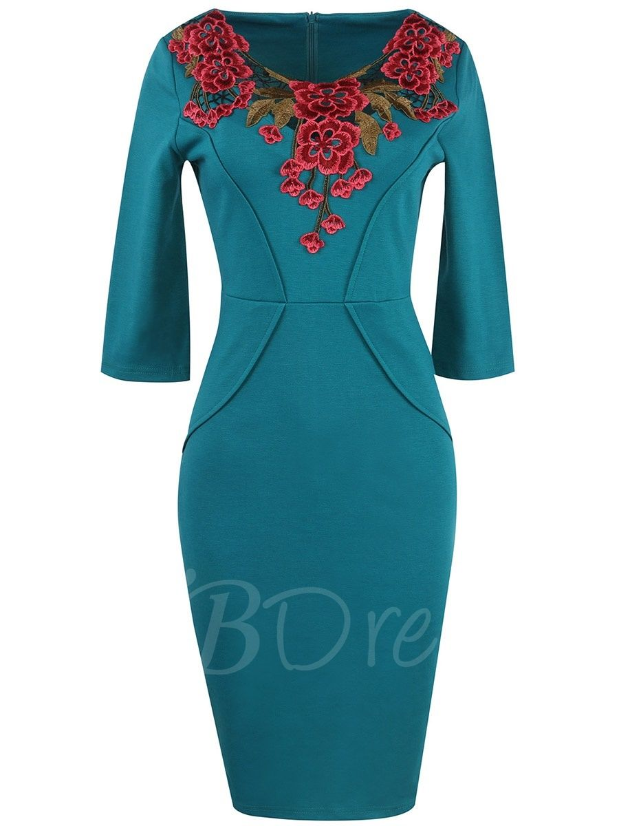Half Sleeve Lace Patchwork Women S Sheath Dress Womens Sheath Dress Vintage Pencil Dress Bodycon Dress With Sleeves [ 1200 x 900 Pixel ]