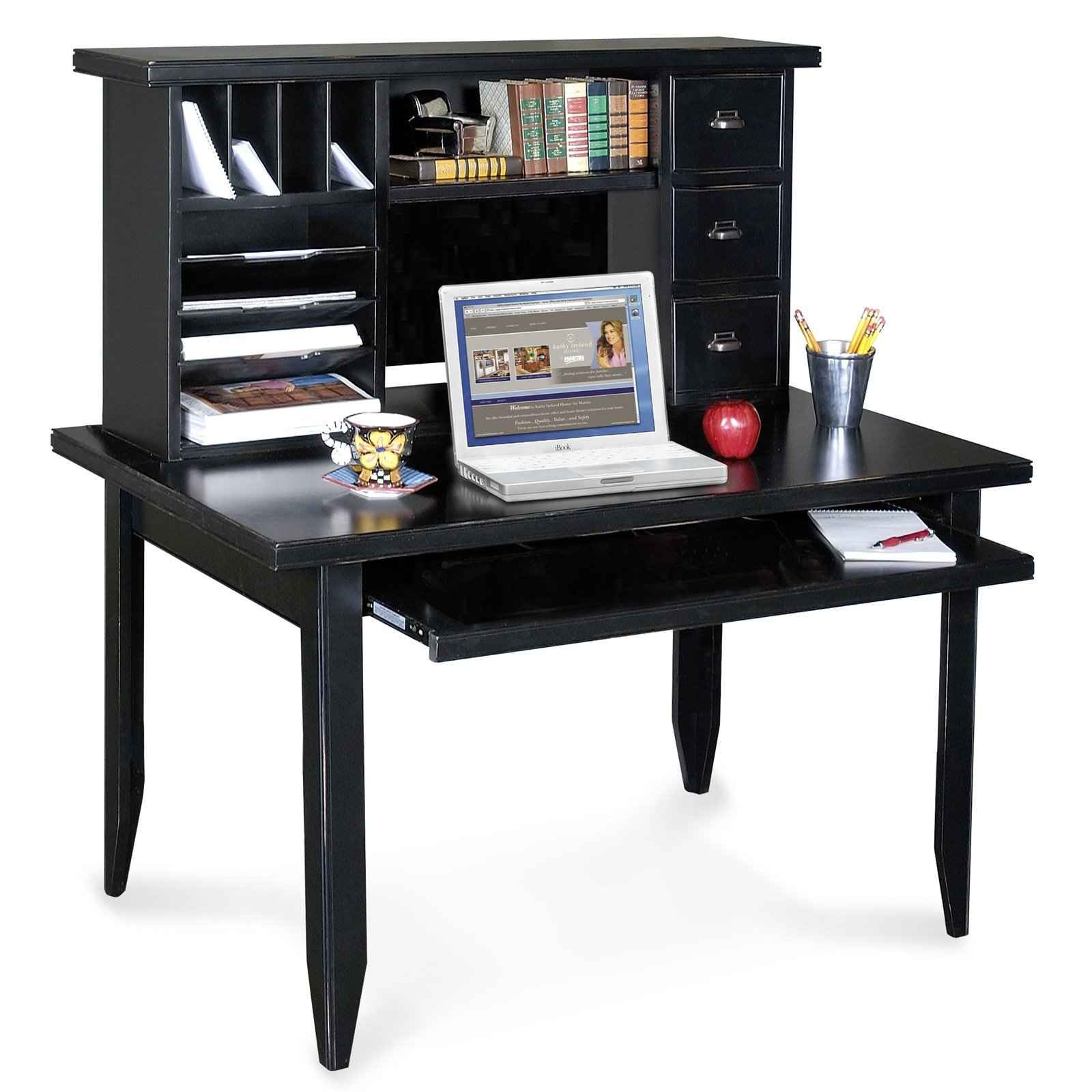 black corner desk black computer desk for home office office furniture - Home Desk Design