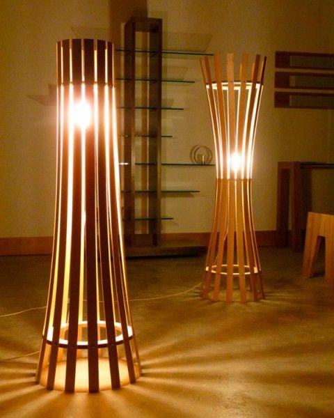 Lámparas hechas con cañas de bambú | asadores de ladrillo ...