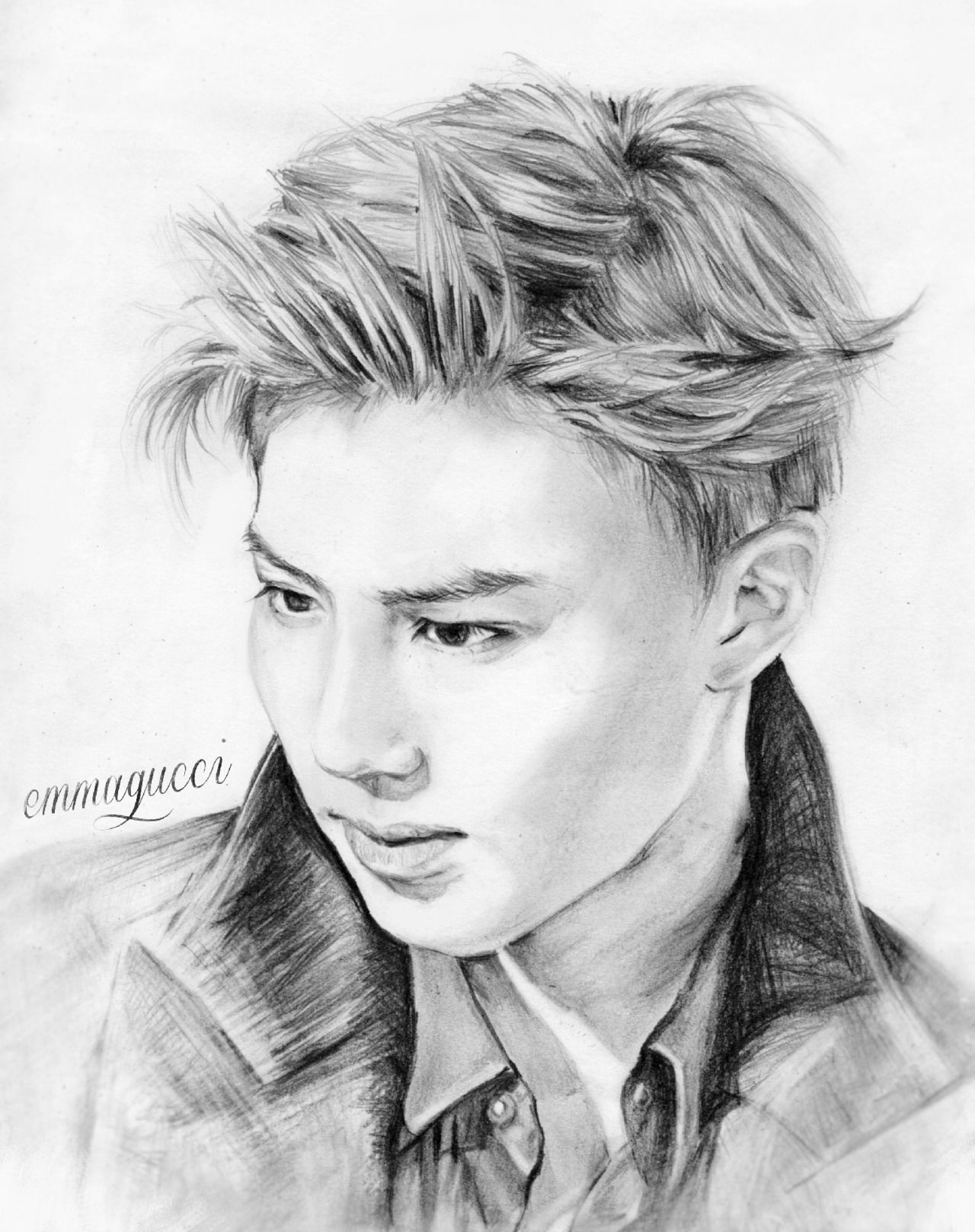 Playing with a pencil  Just a small gift for my Suho biased friend