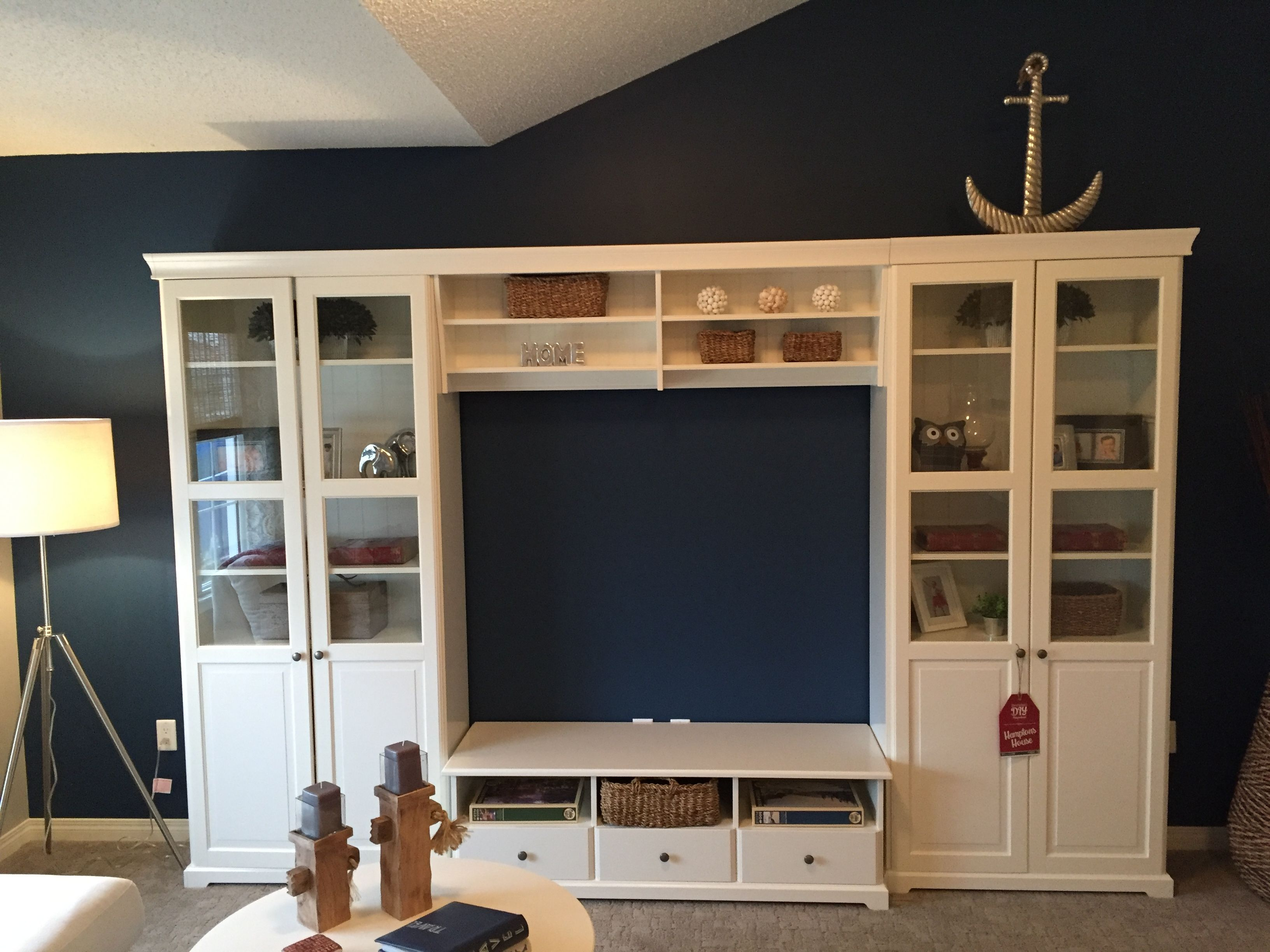 Our Tv In The Hamptons Inspired Lake Summerside Show Home Is The  # Meuble Tv Ikea Inspiration