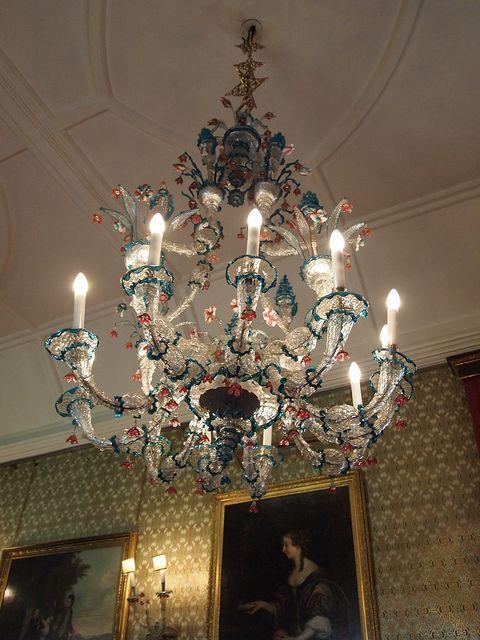 Antique Venetian glass chandelier. - Venetian Glass Antique Chandelier Chandelier Pinterest