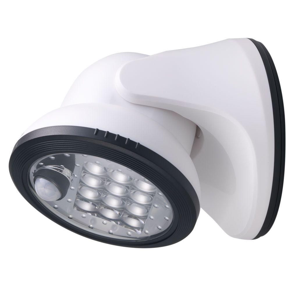 Light It White 12 Led Wireless Motion Activated Weatherproof Porch Light 20034 108 The Home Depot In 2020 Motion Sensor Lights Motion Sensor Lights Outdoor Motion Sensor Closet Light