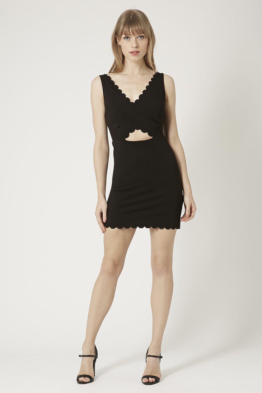 Petite Scallop Wrap Bodycon Dress New In Fashion New In