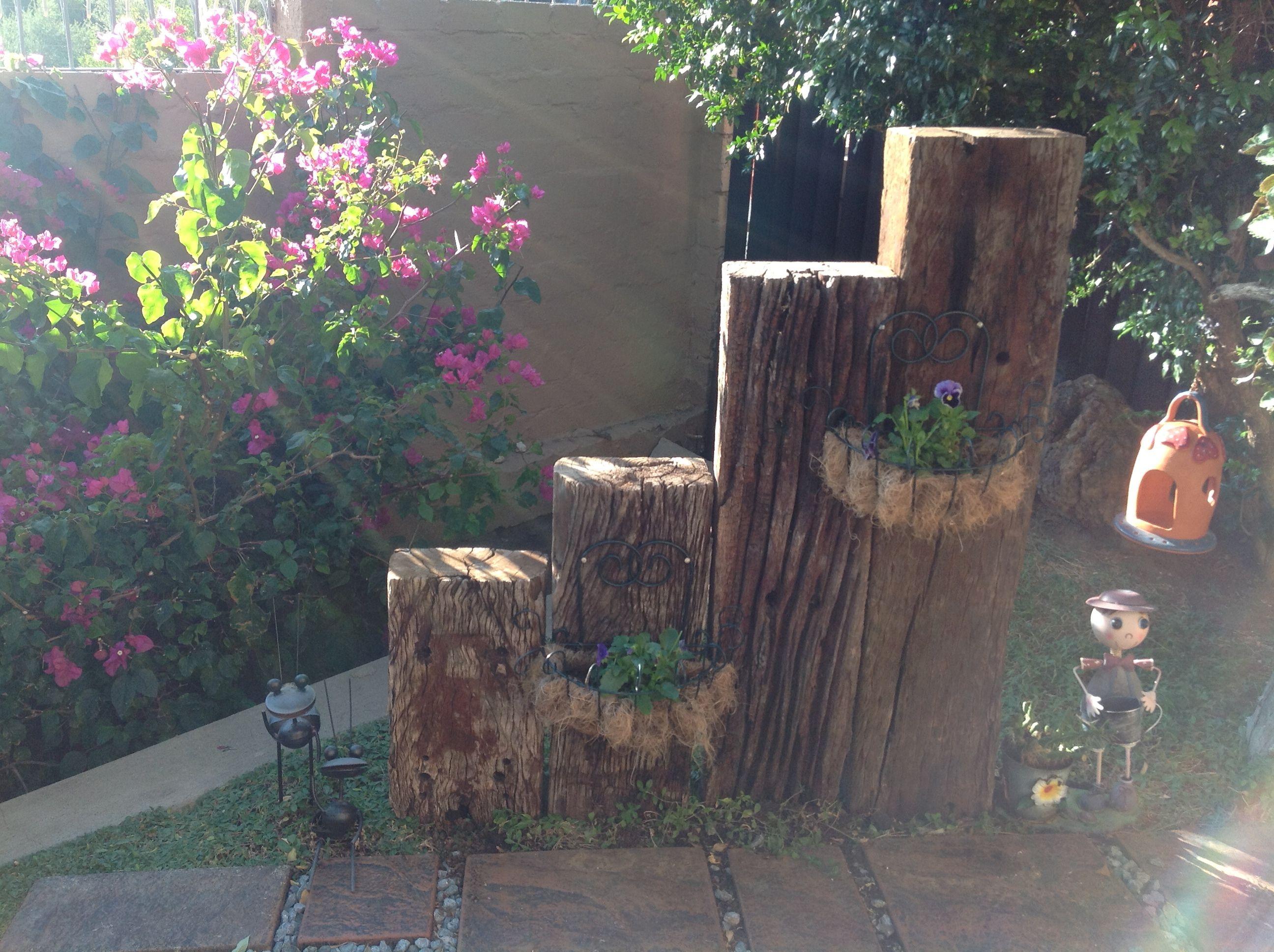 Up Cycle Idea For Old Railway Sleepers -#fairy #garden