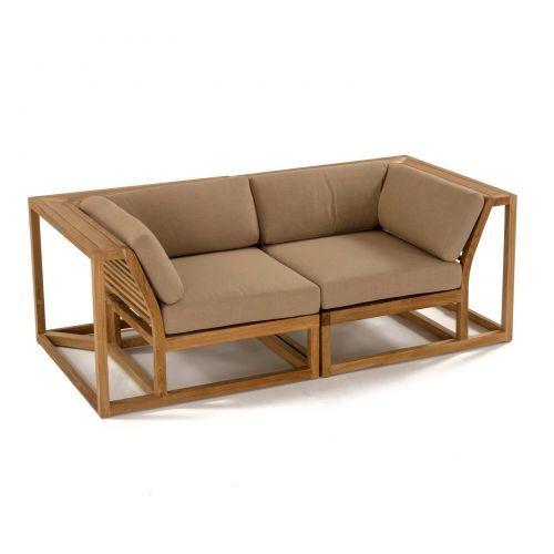 Maya Love Seat Westminster Teak Love Seat Metal Sofa Deep Seating