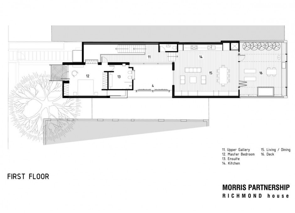 The Richmond House First Floor Architecture Design LAY-OUT PLAN