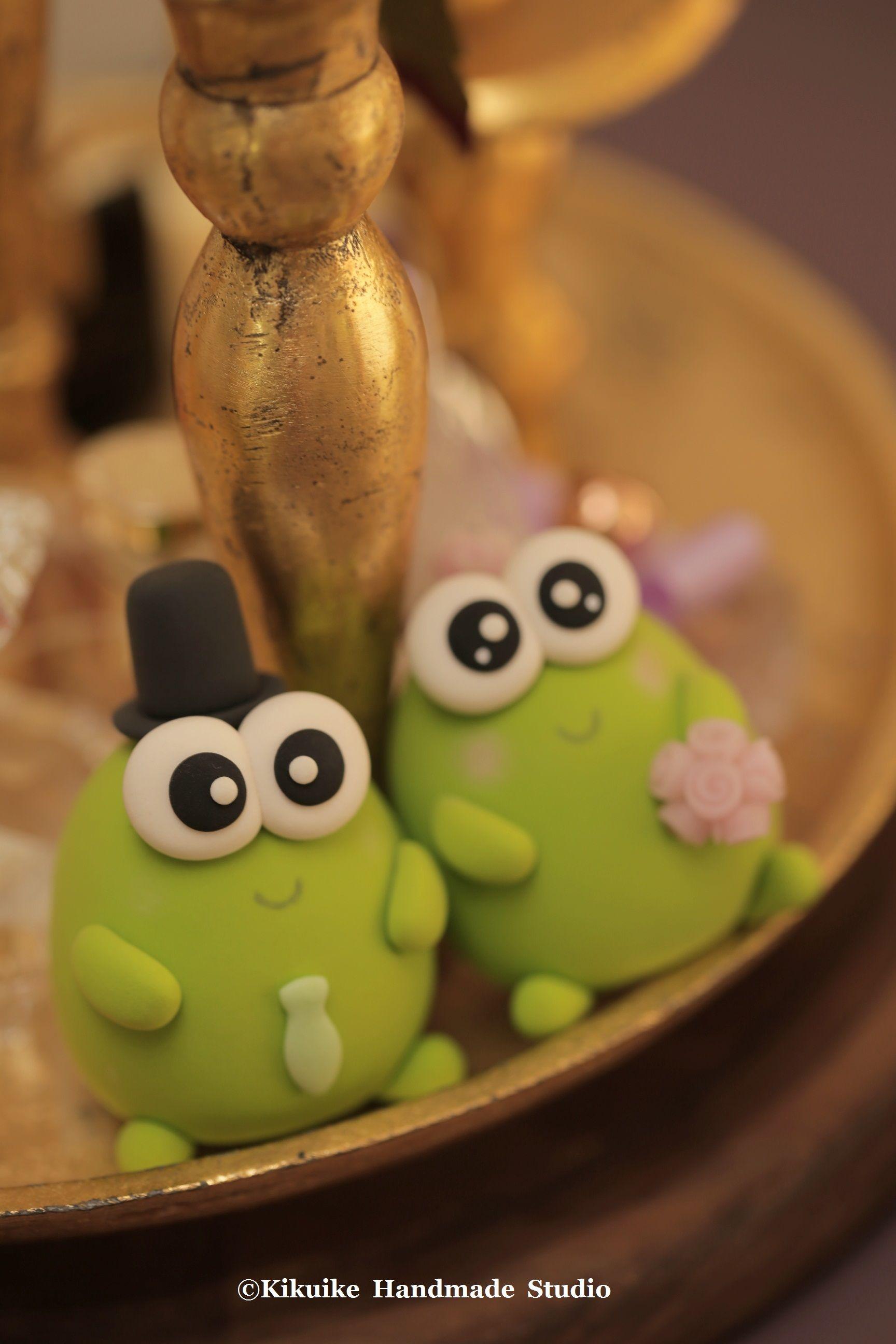 Frog wedding cake topperk 娃娃 doll pinterest frogs