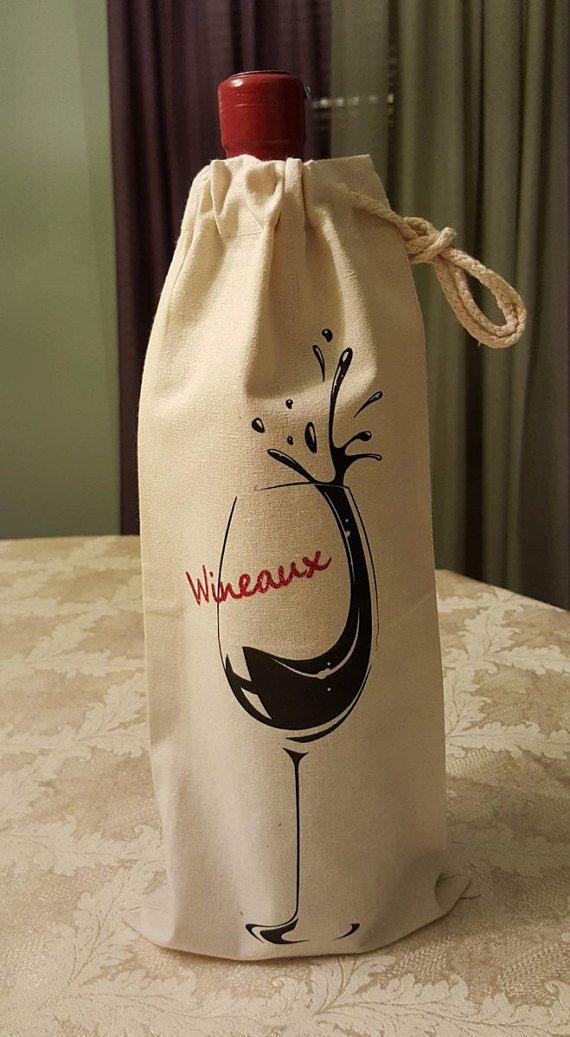 FREE U.S. SHIPPING Wine Tote Bag Wine Gift Bag by ShoeBoxSnapShots ...