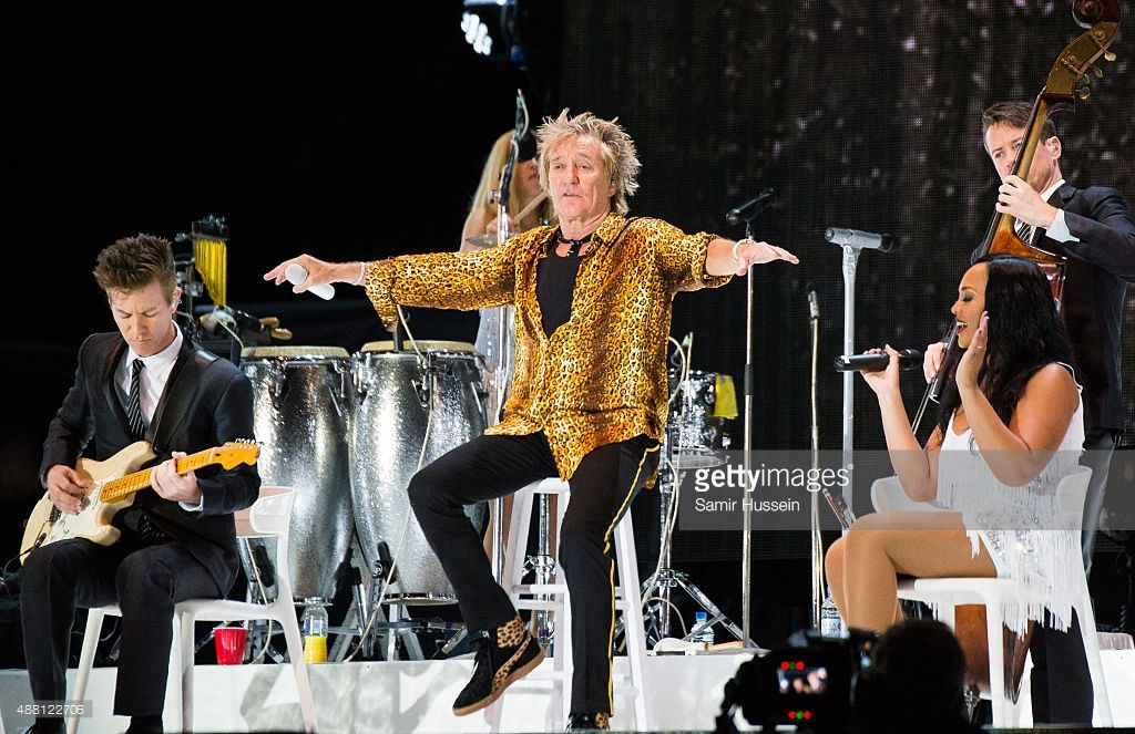 Rod Stewart performs at BBC Radio 2 Live In Hyde Park at