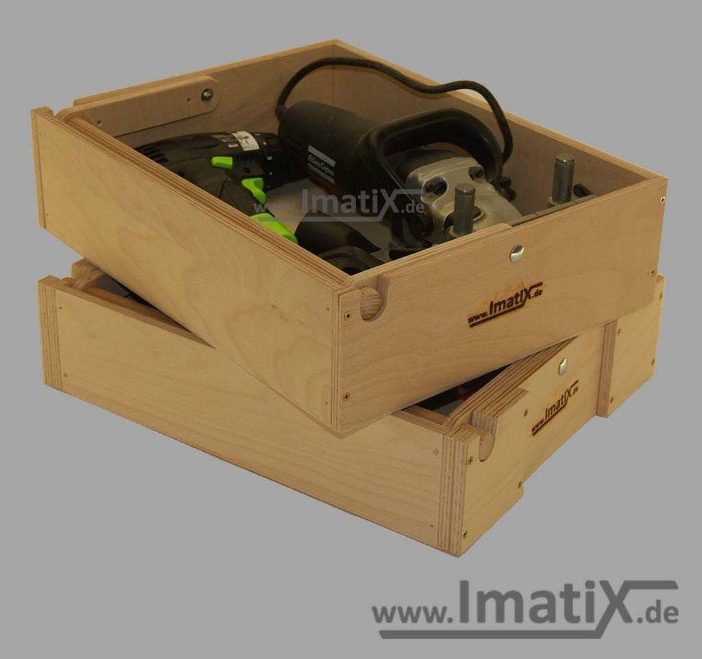 Details Zu Imatix Lbx31 Stapeleinsatz Holzeinsatz 2 Teilig F R  # Muebles Sortimo