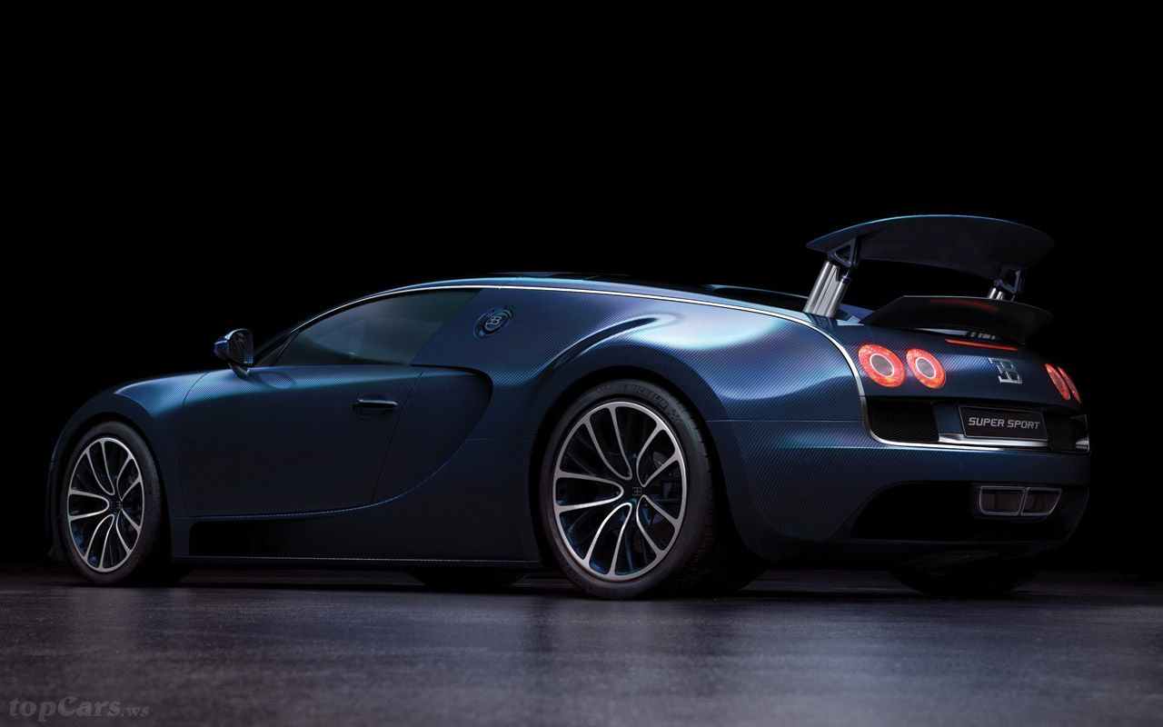 Blue Bugatti Veyron Super Sport Wallpaper: Bugatti Super Sport In Blue Carbon