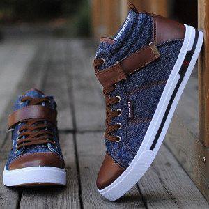 Faux Denim Canvas Shoes