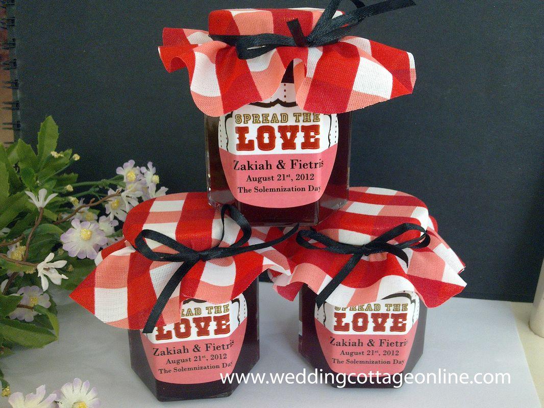 Malaysia Wedding Gifts: Personalized Honey / Jam Jar (Hexagon Jar)