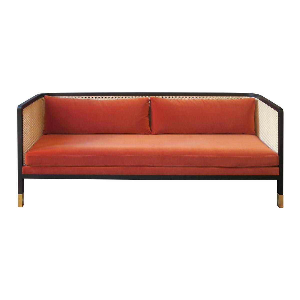 wohnzimmermobel oslo : Red Edition Wicker Sofa Velvet 210 Fox T26 Wicker Sofa