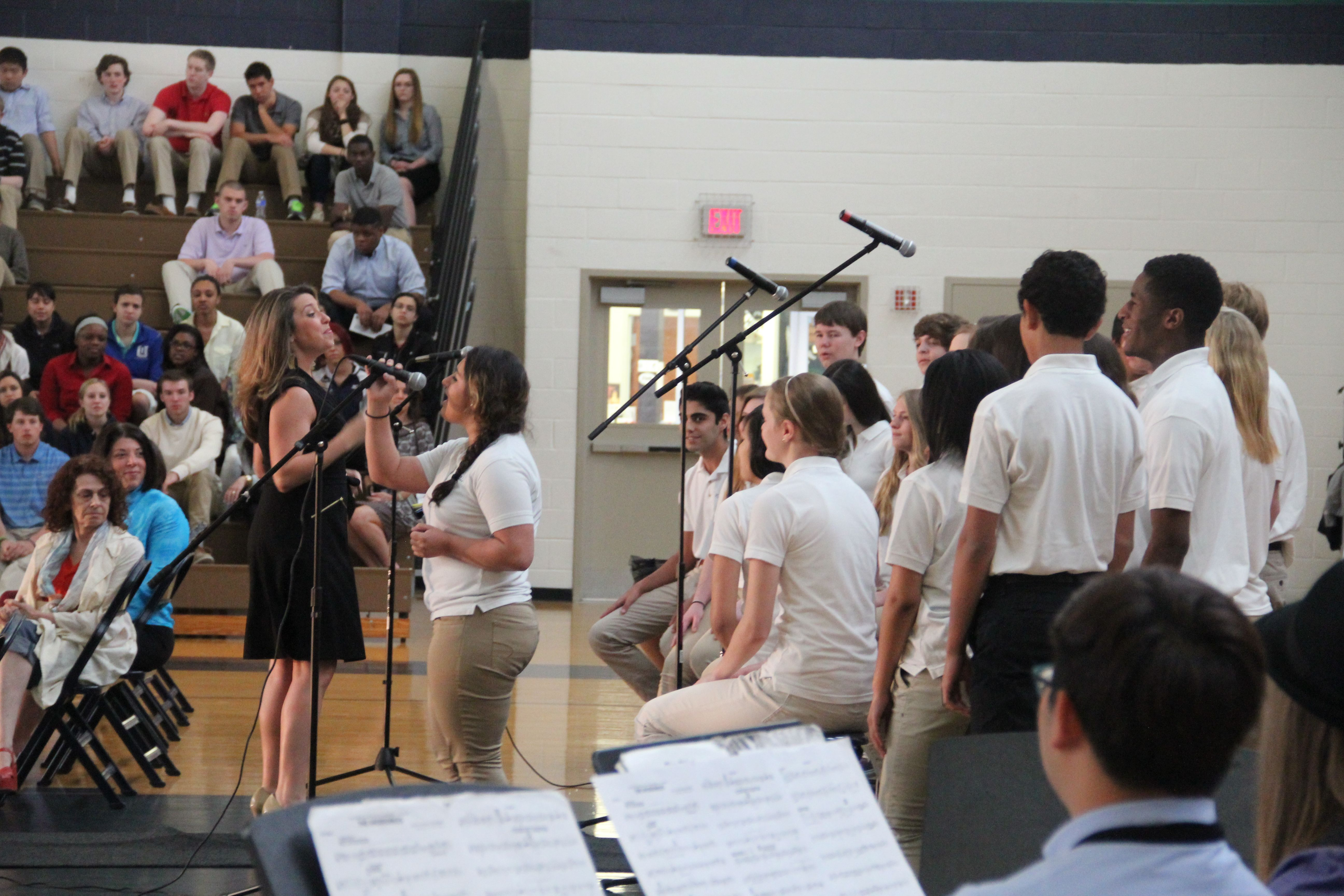 Choir performance at the Upper School Fine Arts Awards Ceremony—April 2014.