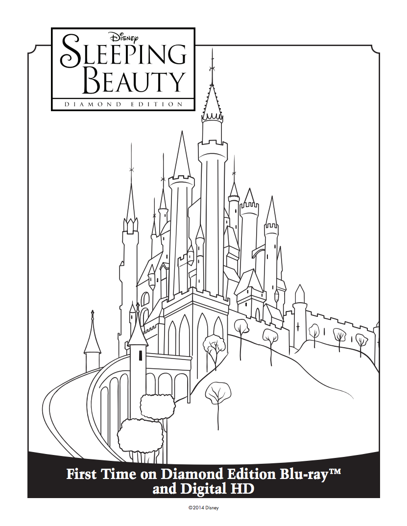 Princess Aurora\'s Castle Coloring Sheet | Sleeping Beauty Diamond ...
