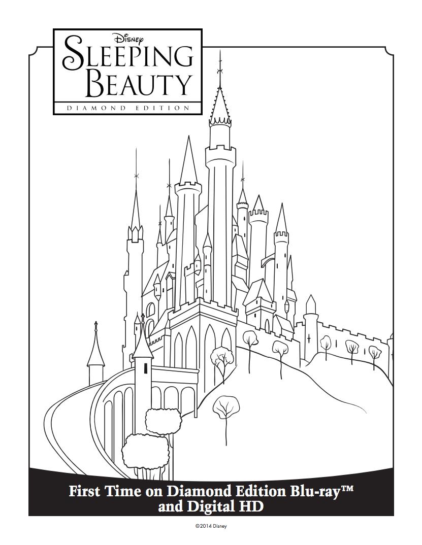 Princess auroraus castle coloring sheet wet play pinterest