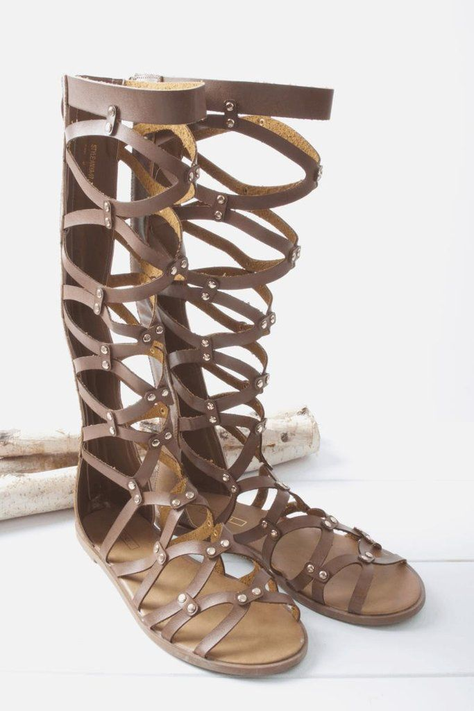 c843184ac8895 A must have Summer gladiator sandals. Extending all the way up your leg in  a cut out construction