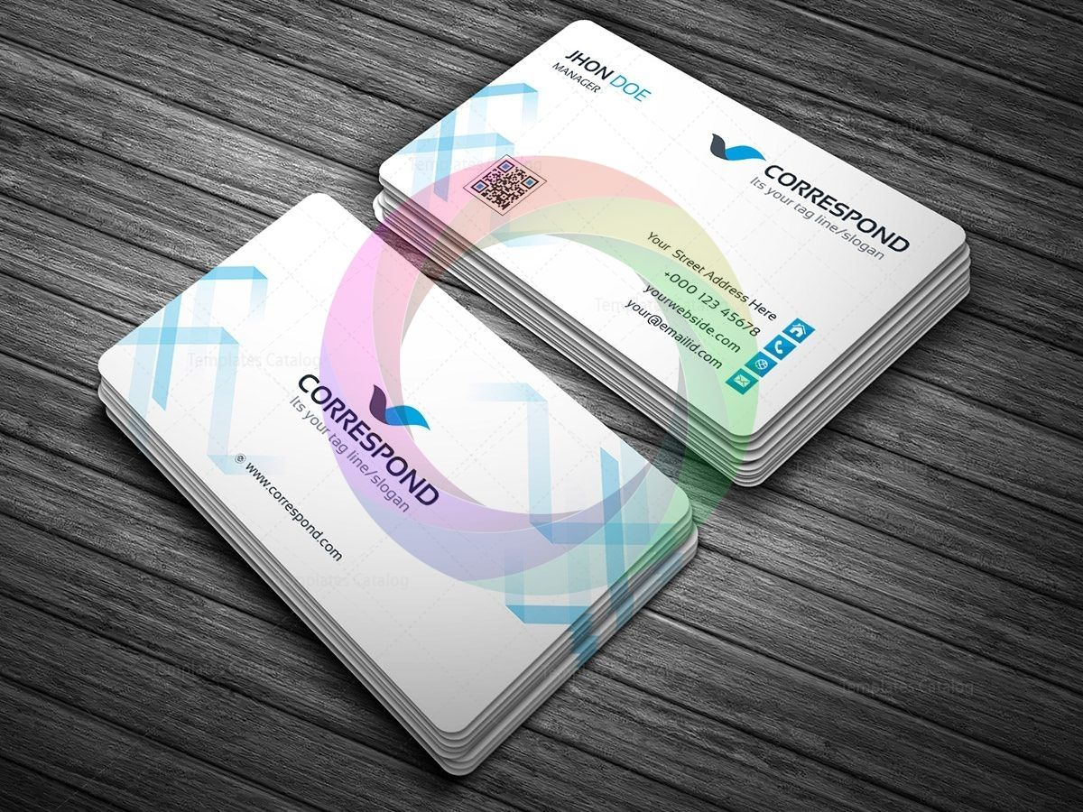 Correspond Business Card Template With Images Business Card