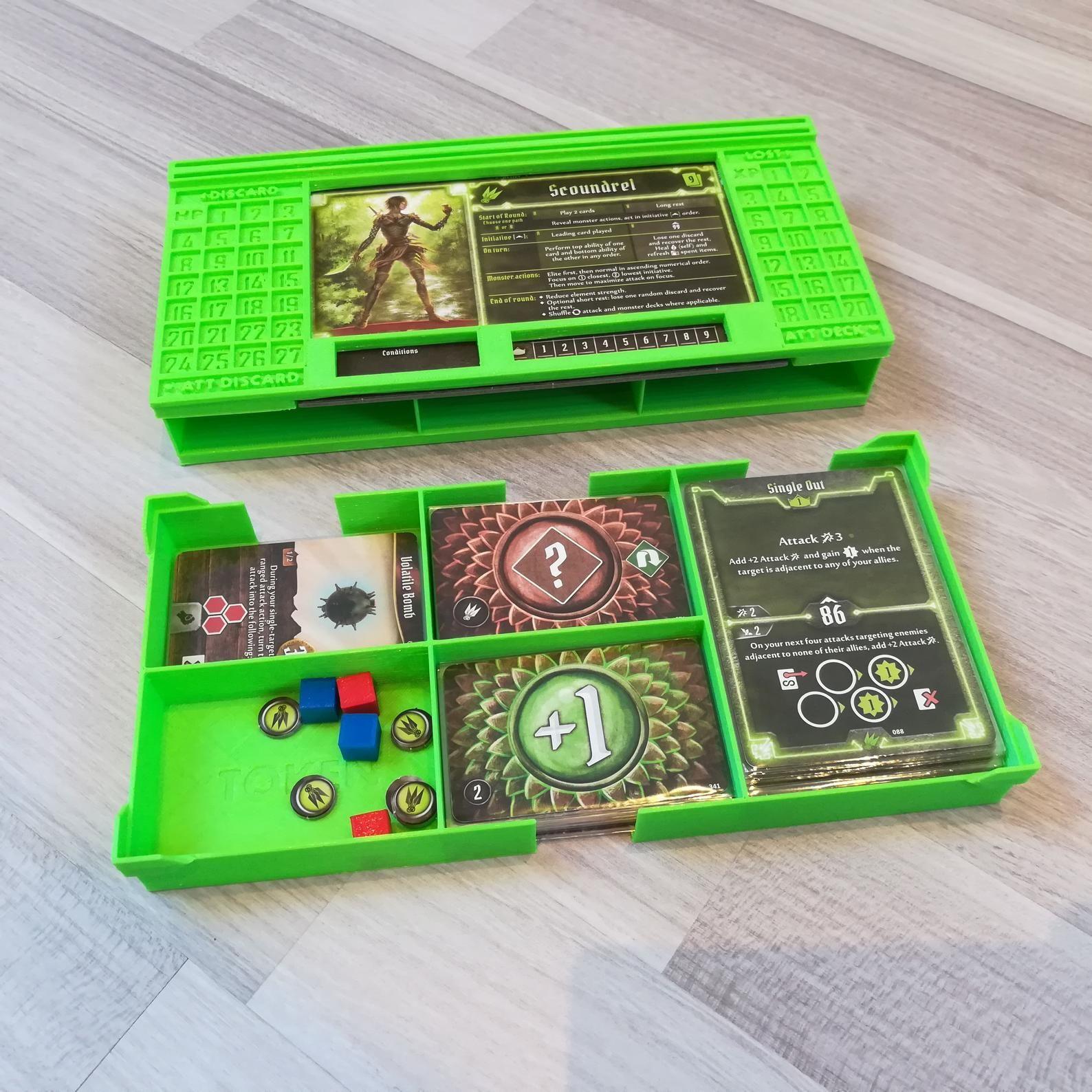 Gloomhaven Character Dashboard & Storage Board games, 3d
