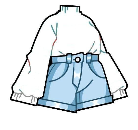 Está ropa la puedes poner en tu personaje de gacha life