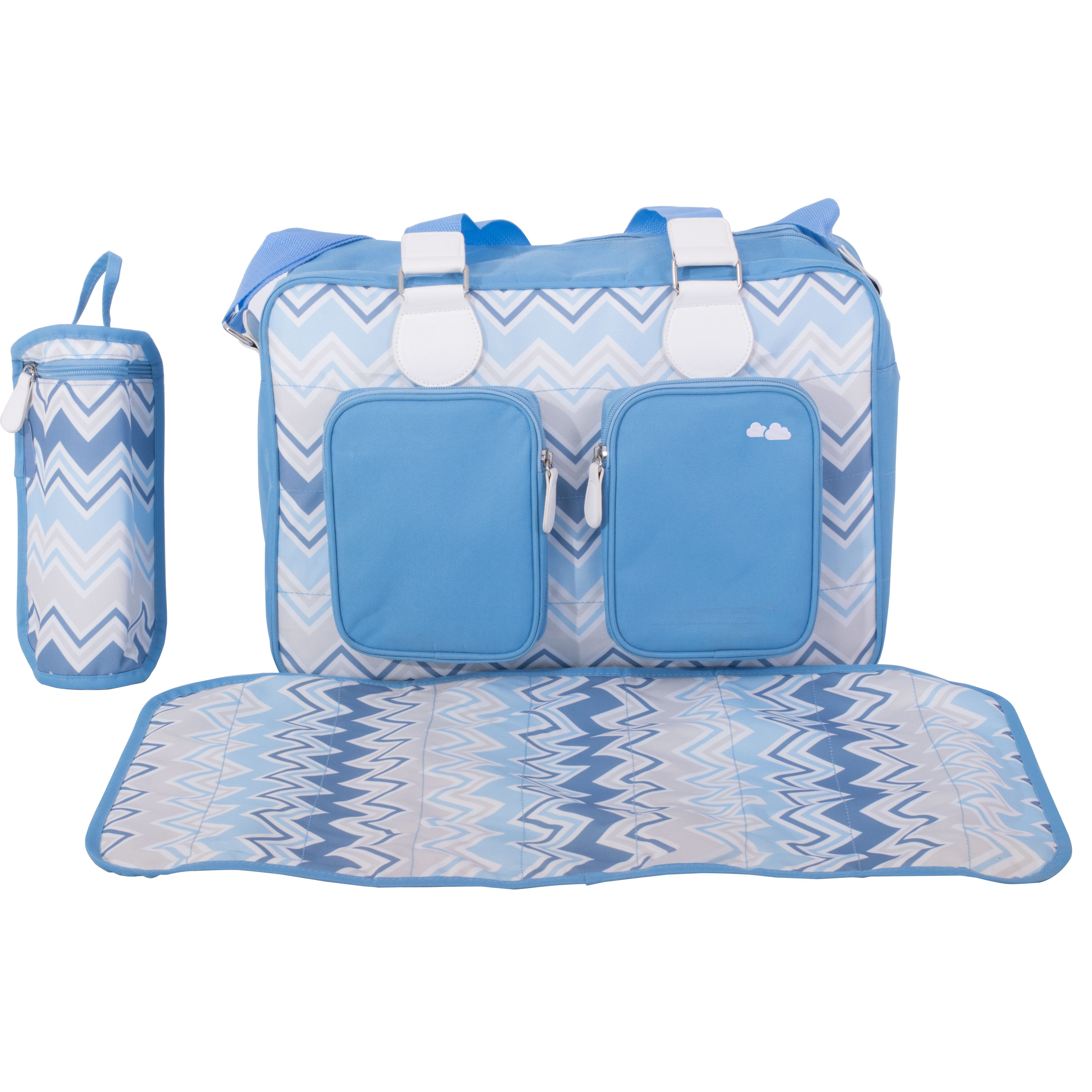 NEW MY BABIIE CREAM DELUXE BABY MATERNITY NAPPY CHANGING BAG /& CHANGE MAT
