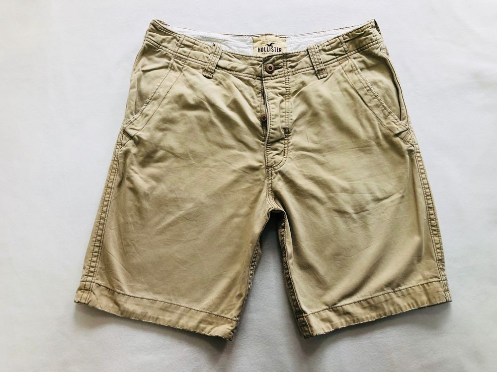 b1e14acdd6 Mens HOLLISTER Knee Beige Cargo/Combat Shorts Size W 34 great cond ...