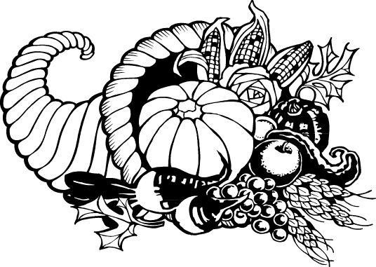Clip Art Black And White Thanksgiving Day