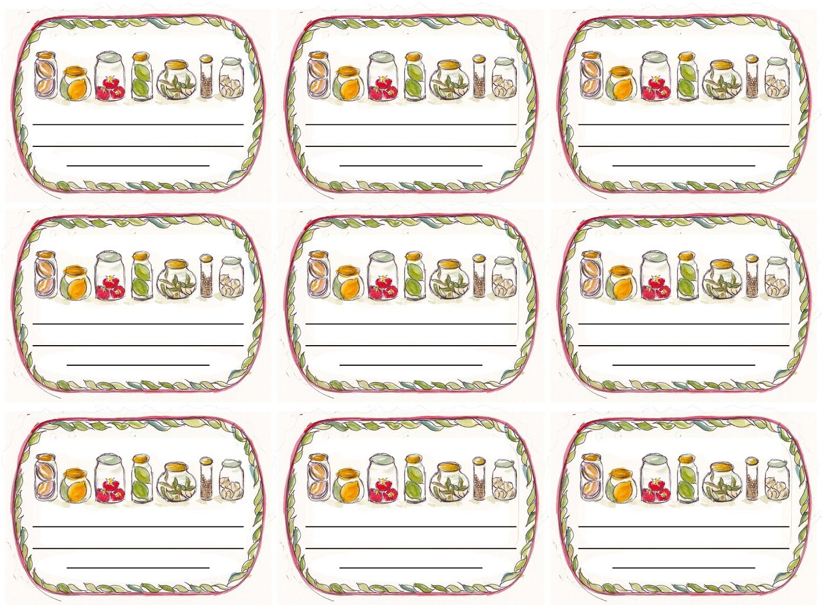 Pin On Jar Labels Baby food jar labels template