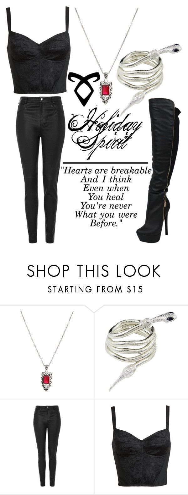 """""""Isabelle Lightwood Inspired Outfit"""" by maryanarivera ❤ liked on Polyvore featuring Topshop and Dolce&Gabbana"""