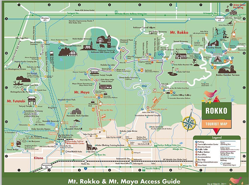Mount rokko and Mount Maya tourist guide Japan Pinterest