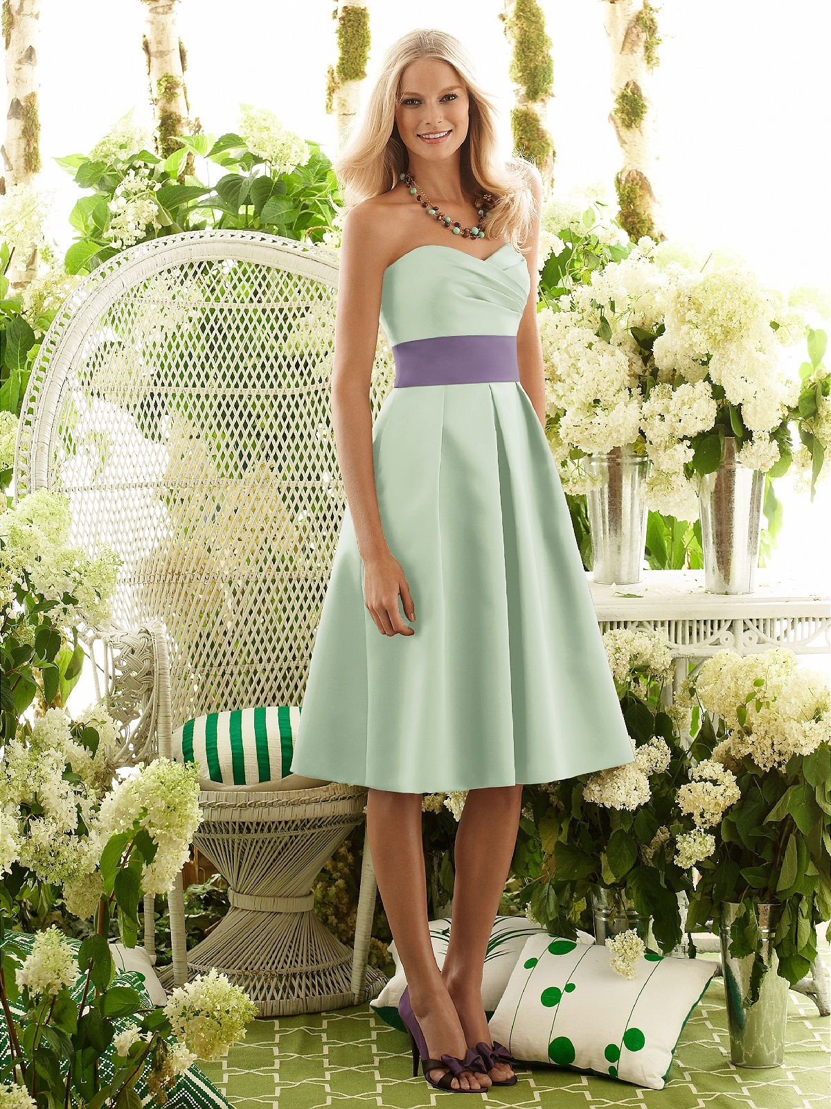 Celadon after six bridesmaid style 6553 dessy can change both tea length green bridesmaid dress this style only darker green with a yellow sash ombrellifo Images