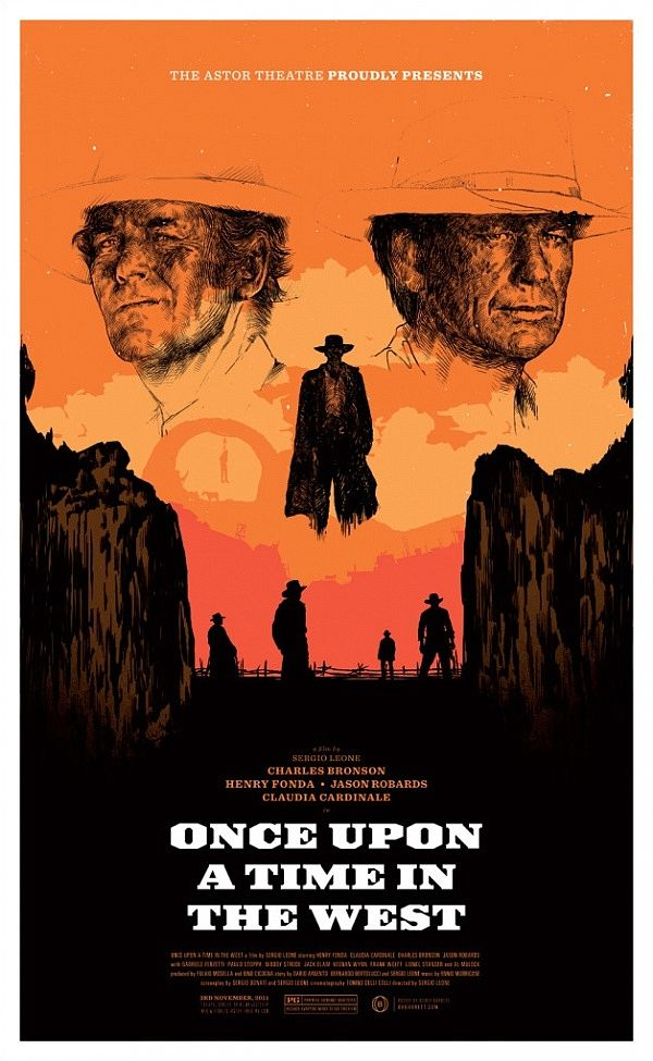 ONCE UPON A TIME IN THE WEST VINTAGE MOVIE POSTER FILM A4 A3 ART PRINT CINEMA