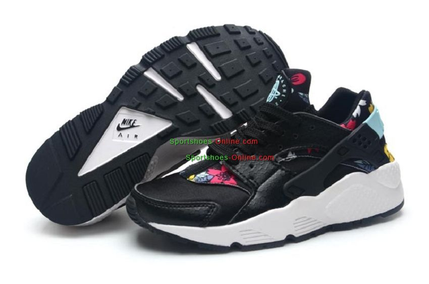 534882f4761b Nike Air Huarache Floral Pack Women Shoes Black Blue Red Yellow White