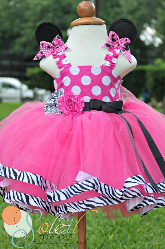 Zebra and Pink Minnie Mouse Tutu | Charlotte | Pinterest | Vestidos ...