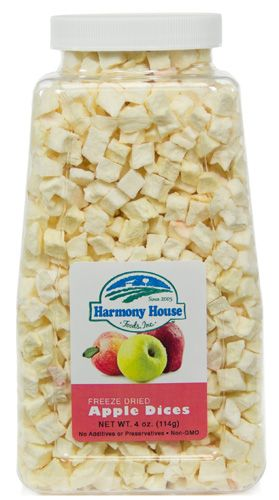 Freeze Dried Apple Dices | 4 oz. Diced Dried Apples