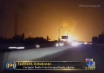 Captado En Video La Poderosa Explosión De Una Tubería De Gas En Uzbekistan #Video