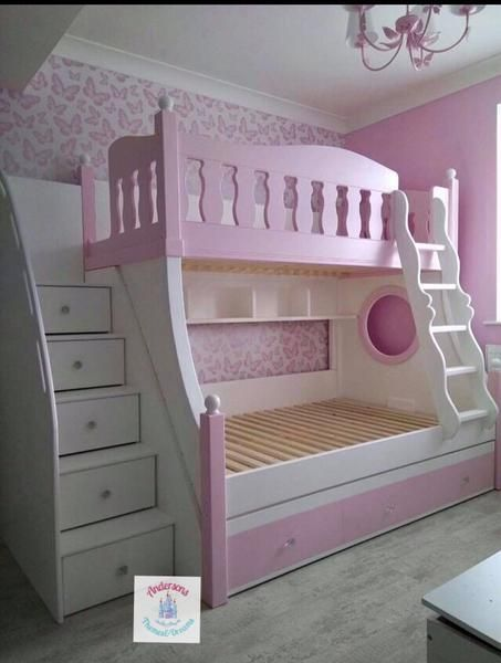 Deluxe Bunk Beds With Trundle Below For Guests Staying Full Size