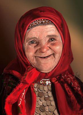 peponaki figure drawing πεπονακι: Russian granny