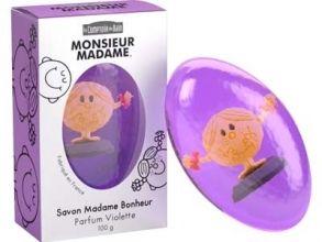 Illustration Savon Madame Bonheur - Parfum Violette 100 g