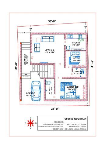 West Facing Vastu 1 House Plans With Pictures Model House Plan 2bhk House Plan