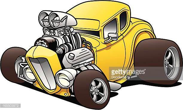 Hot Rod Illustrations Hot Rod Car Stock Illustrations And Cartoons Getty Images Cartoon Car Drawing Cool Car Drawings Car Drawings
