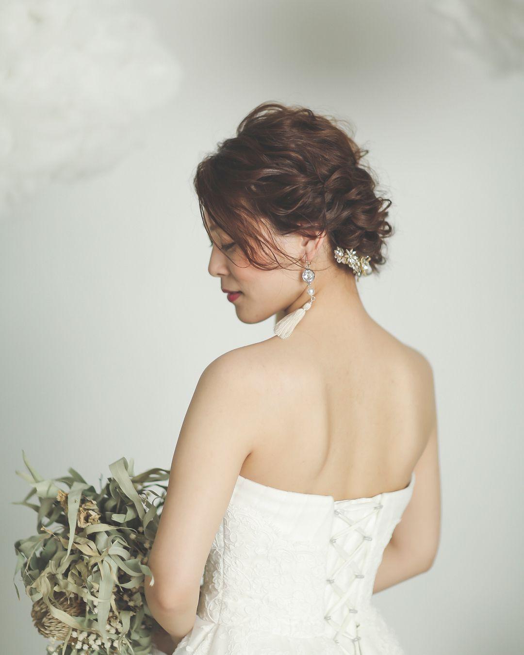 306e1e4e69850 結婚式の花嫁さん向け、ウェディングドレスや和装に合う髪型、ヘア ...