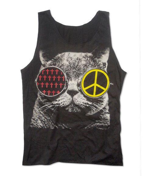 FUNKY KITTY TANK $24.00 http://www.shopspikesandseams.com/products/595896-funky-kitty-tank