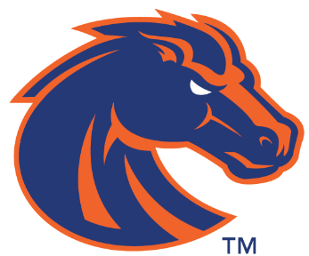 image regarding Printable College Logos titled Printable Boise Country Broncos Emblem NCAA Sporting activities Plaques