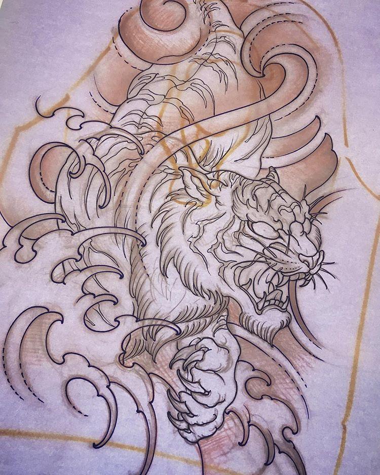 Tiger Japnese Style Tattoo Amsterdam Tattoo 1825 Kimihito Kimihito1825 Kimihito1825 Kimihito18 Tiger Tattoo Design Japanese Tiger Tattoo Japanese Tattoo Art